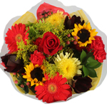 Bridal Centerpieces Fresh Yellow and Red Flowers