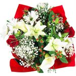 Bridal Centerpieces Red and White Flowers