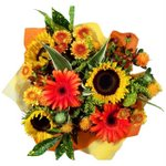 Bridal Centerpieces Sunflowers and Gerbera Daisies