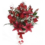 Valentine's Day 4 Centerpieces Cupid Red