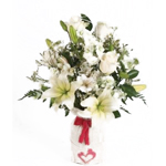 Valentine's Day 4 Table Centerpieces Cupid White
