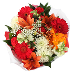 Floral Centerpieces Fresh Red and Orange Flowers