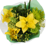 Floral Centerpieces Yellow and Green Flowers