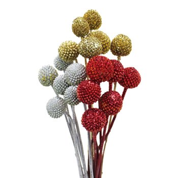 Holiday Tinted Billy Balls Flower