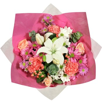 White and Pink Flower Gift Arrangement