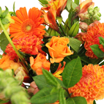Orange Classic Fresh Centerpieces