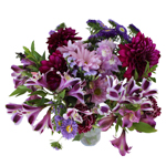 Rainbow of Purple Monochromatic Centerpieces
