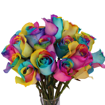 Neon tie dye rainbow roses for How to make tie dye roses