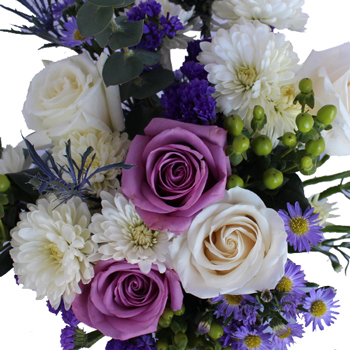 Purple And White Wedding Centerpieces