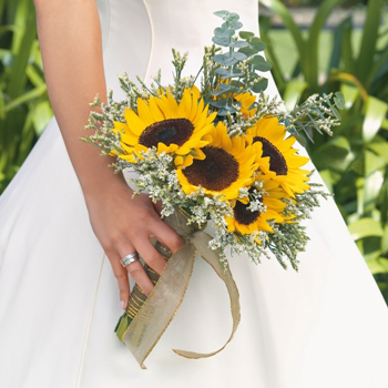 Sunflower Wedding Flowers Box - 3 Bridal